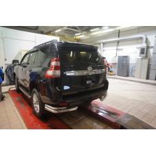 Защита заднего бампера Toyota Land Cruiser 150 (2009- /2014-/2017-) (уголки) d70/42