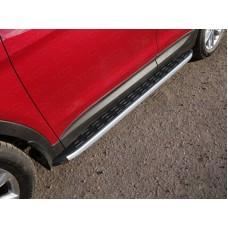 Пороги алюминиевые с пластиковой накладкой 1820 мм код HYUNSF4WD15-20AL