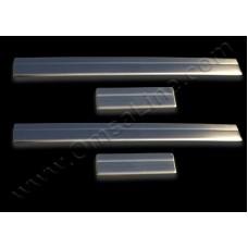 Накладки на дверные пороги (нерж.) 4 шт. (Qashqai +2) с 2010 г.