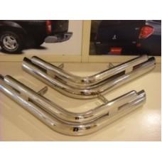 Защита заднего бампера 40/70 мм, полированная нержавеющая сталь.