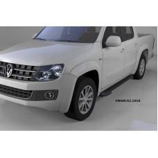 Пороги алюминиевые (Onyx) Volkswagen Amarok (Амарок) (2010-)