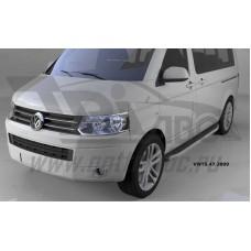 Пороги алюминиевые (Alyans) Volkswagen T5 / T6 Caravelle/Trans. (короткая база)