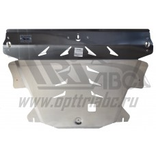 Защита картера двигателя и кпп Volvo (Вольво)XC60(08-)/XC70(07-)/S60(00-09-)/S80(98-06-)(2WD)V-все/F