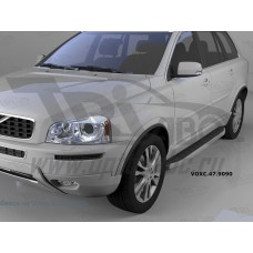 Пороги алюминиевые (Alyans) Volvo (Вольво) XC90 (2006-2015)