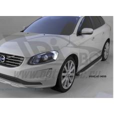Пороги алюминиевые (Alyans) Volvo (Вольво) XC60 (2009-)