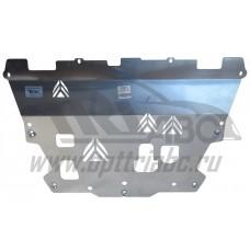 Защита картера двигателя и кпп Volvo (Вольво) XC90 (2015-) (Алюминий 4 мм)