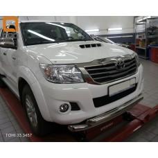 Защита переднего бампера Toyota Hilux (2012-2015) (двойная) d 76/60