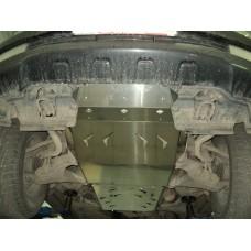 Защита днища Toyota Land Cruiser (Тойота Ленд Круизер) 200 V-4.5TD (2007-10.2015)3 ч. (Алюминий 4 мм
