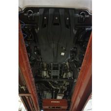 Защита картера двигателя и радиатора Toyota Land Cruiser (Тойота Ленд Круизер) 200 V-4,5D(2008-2015-