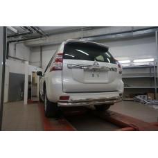Защита заднего бампера Toyota Land Cruiser 150 (2009- /2014-) (двойная) d 76/60