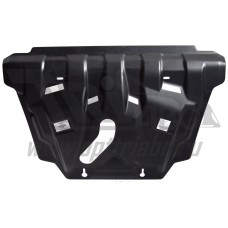 Защита картера двигателя и кпп Toyota Rav 4, V-2,5 (2013-) (Композит 6 мм)