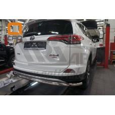Защита заднего бампера Toyota RAV 4 (2016-) (одинарная) d60