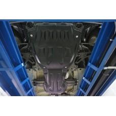 Защита картера двигателя и кпп Suzuki Grand Vitara V-все (2005-) , из 2-х частей (Композит 8 мм)