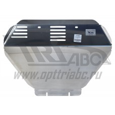 Защита картера Subaru Forester V-2.0Turbo, АКПП (2013-) (Алюминий 4 мм)
