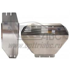 Защита картера и КПП Subaru Forester V-2.0Turbo, АКПП (2013-) 2 части (Алюминий 4 мм)