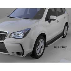 Пороги алюминиевые (Alyans) Subaru Forester (2013-)