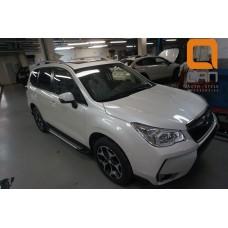 Пороги алюминиевые (Sapphire Silver) Subaru Forester (2013-)