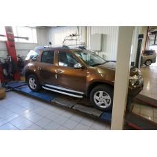 Пороги алюминиевые (Alyans) Renault Duster (Рено Дастер) (2012-) / Nissan Terrano (2014-)