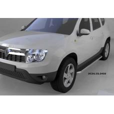 Пороги алюминиевые (Ring) Renault Duster (Рено Дастер) (2012-) / Nissan Terrano (2014-)