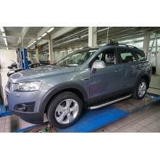 Пороги алюминиевые (Alyans) Chevrolet Captiva (Шевроле Каптива) (2006-2010-)/Opel Antara