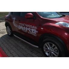 Пороги алюминиевые (Alyans) Nissan Juke (2011-)