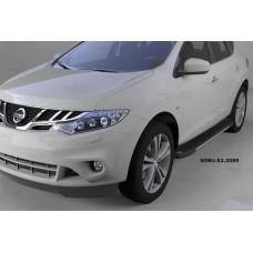 Пороги алюминиевые (Onyx) Nissan Murano (2008-)