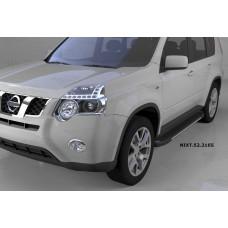 Пороги алюминиевые (Onyx) Nissan X-Trail (Ниссан Икстрейл) (2007-2010-2014)