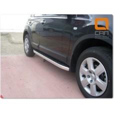 Пороги алюминиевые (Alyans) Nissan Qashqai (Ниссан Кашкай)+2 (2009-2014)
