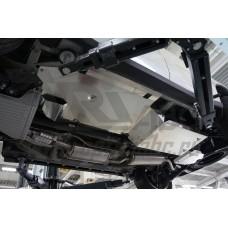 Защита днища Acura MDX'14 V-3,5 АКПП (2014-) из 3 частей (без защиты картера) (Алюминий 4 мм)