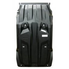 Защита картера двигателя и кпп Mitsubishi Pajero(Митсубиши Паджеро)Sport,V-2,5TD,КПП-все(08-)/ L200