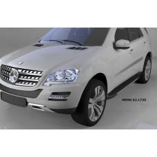 Пороги алюминиевые (Onyx) Mercedes ML W164 (2006-2011)