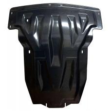 Защита картера MB ML350, кузов 166, В-3, 5; 3,0 TD + КПП, 2 части, карбон