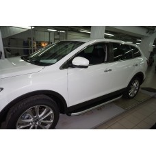 Пороги алюминиевые (Alyans) Mazda (Мазда) CX9 (2013-)