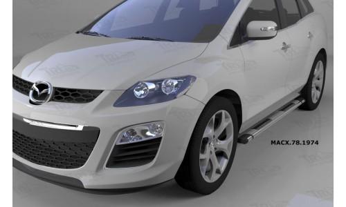 Пороги алюминиевые (Emerald silver ) Mazda (Мазда) CX7 (2011-) на Mazda CX-7 (2010-2013)