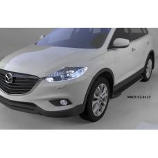 Пороги алюминиевые (Onyx) Mazda (Мазда) CX9 (2013-)
