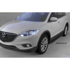 Пороги алюминиевые (Sapphire Black) Mazda (Мазда) CX9 (2013-)