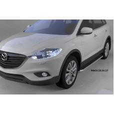 Пороги алюминиевые (Ring) Mazda (Мазда) CX9 (2013-)