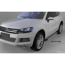 Пороги алюминиевые (Topaz) Volkswagen Touareg (Туарег) (2004-)