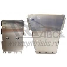 Защита картера двигателя и кпп VW Amarok (Амарок) V-2,0 TD,КПП-все(2009-)+РК, из 2-х частей (Алюмини