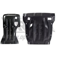 Защита картера двигателя и кпп VW Touareg (Туарег) V-все, кроме 4,1D(10-)(Композит 10 мм) из 2х част