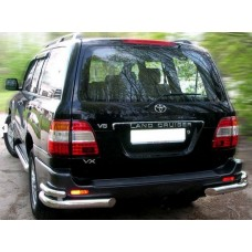 Защита заднего бампера Toyota Land Cruiser 100 (1998-2007) (уголки) d 70/48