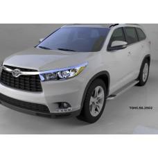 Пороги алюминиевые (Opal) Toyota Highlander (Тойота Хайлендер) (2014-)