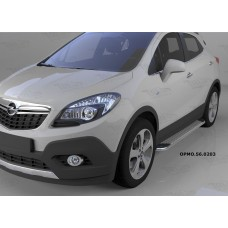 Пороги алюминиевые (Opal) Opel Mokka (2012-)