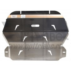 Защита картера двигателя и кпп Chevrolet Captiva (Шевроле Каптива) V-2.4; 2.2TD (2012-) (Алюминий 4