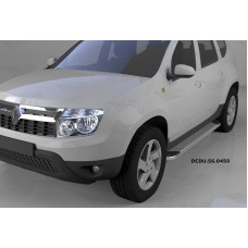 Пороги алюминиевые (Opal) Renault Duster (Рено Дастер) (2012-) / Nissan Terrano (2014-)