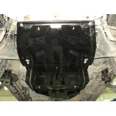 Защита картера двигателя и радиатора Mitsubishi Pajero (Митсубиши Паджеро) IV,V-3,0;3,2TD (06-)(Комп
