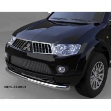 Защита переднего бампера Mitsubishi Pajero Sport (Митсубиши Паджеро) (2008-)/L200 (2014-2015 кроме к