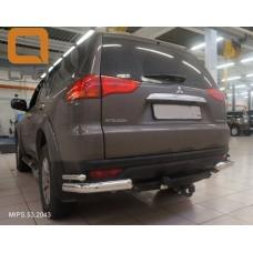 Защита заднего бампера Mitsubishi Pajero Sport (Митсубиши Паджеро) (2008-) (уголки) d 76/42