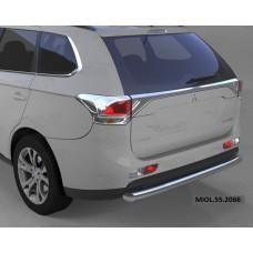 Защита заднего бампера Mitsubishi Outlander (-2014/2014-04.2015) (одинарная) d 60