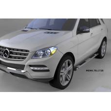 Пороги алюминиевые (Emerald silver ) Mercedes ML W166 (2011-)